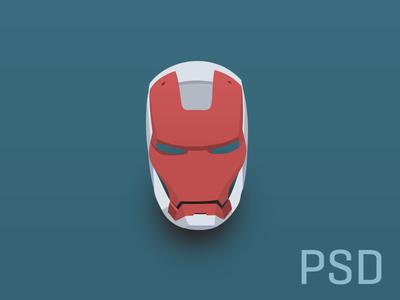 PSD Iron Man Flat Helmet