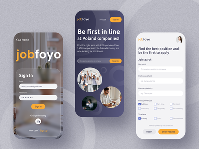 Jobfoyo — job search service job service design webdesign web ux ui interface dribbble