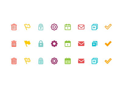 Icon Exploration icons ui illustration design iconography color styles interface