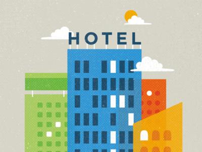 Hotel design hotel halftone texture illustration