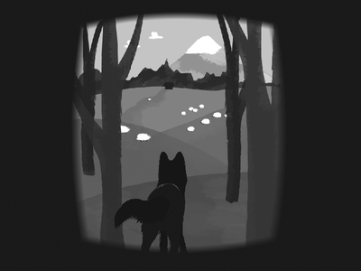 Wolf texture black and white illustration wolf