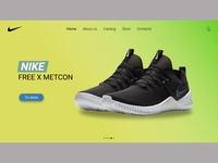 Home page Nike store
