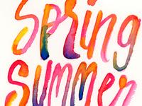 Spring Summer Watercolors