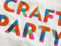 Craft Party (in embroidery)!