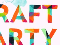 Craft Party (in paint!)