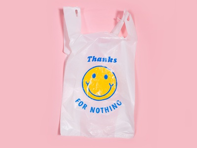 Thanks For Nothing for sale plastic bags enamel trash