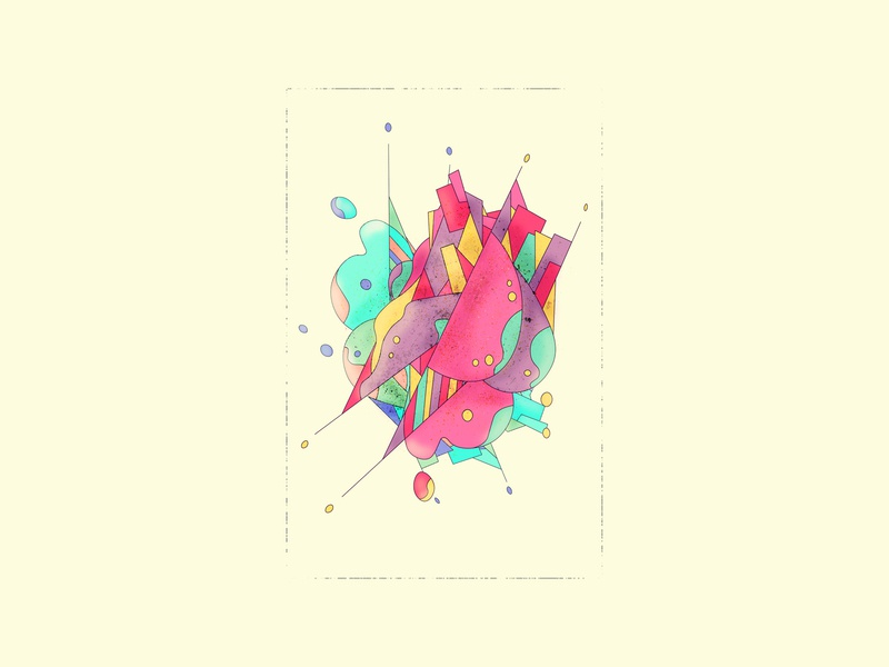 ABSTRCT_19 S.4. shapes abstract shapes photoshop inspiration abstract design illustration illustrator abstract art abstract colors design