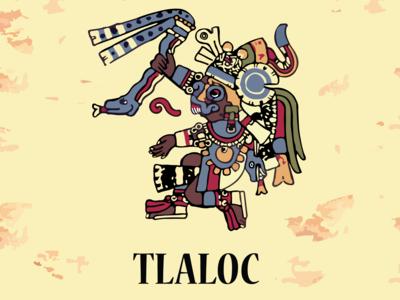 Aztec god Tlaloc