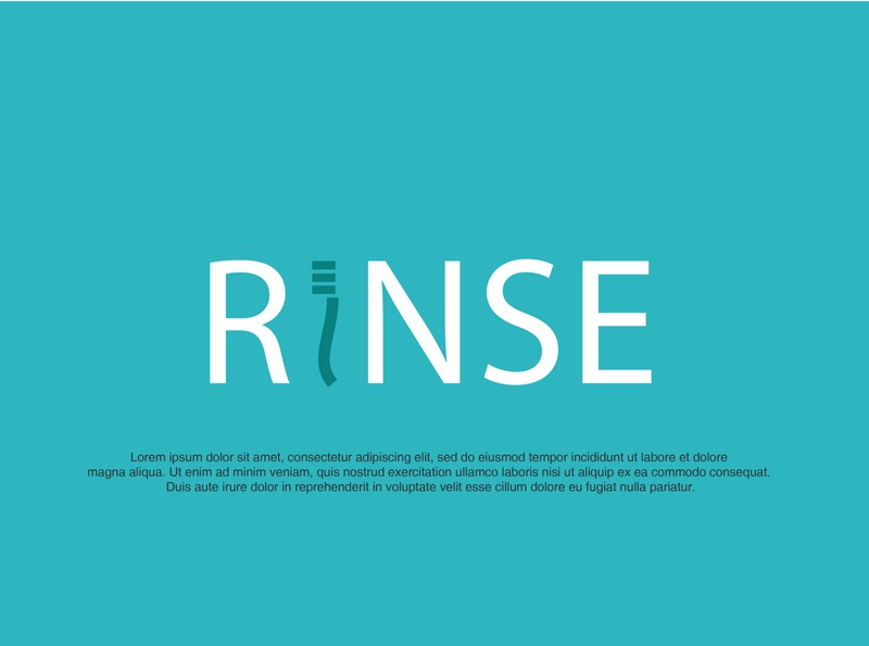 RINSE unused dental logo typography icon minimalism logo branding