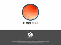 Planet Sushi Logo Concept