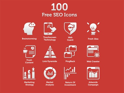 100 Fresh SEO Icons free freebies icon icons seo marketing flat branding minimal