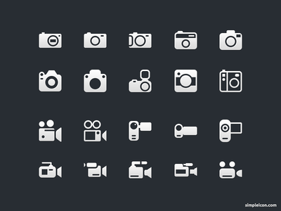 Camera And Video Camera Icons free icon icons free icons freebie 16px glyph flat camera video vector psd