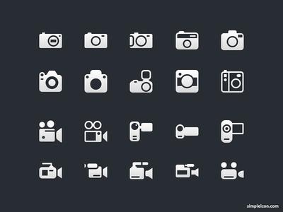 Camera And Video Camera Icons