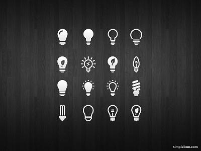 Light Bulb Icon Set psd vector buld idea free icon icons free icons freebie flat icon design ui