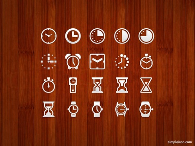 Clock And Watch Icon Set time ui free icon icons free icons freebie psd icon set flat icon vector design