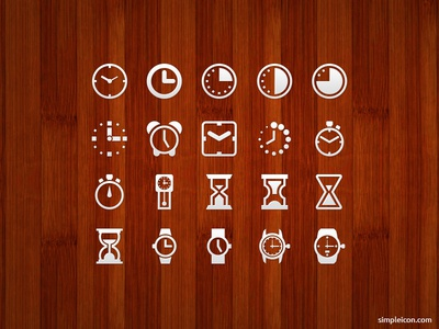 Clock And Watch Icon Set