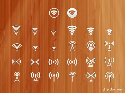 Signal Icon Set free psd icon icons freebie signal wifi ui icon set flat icon vector