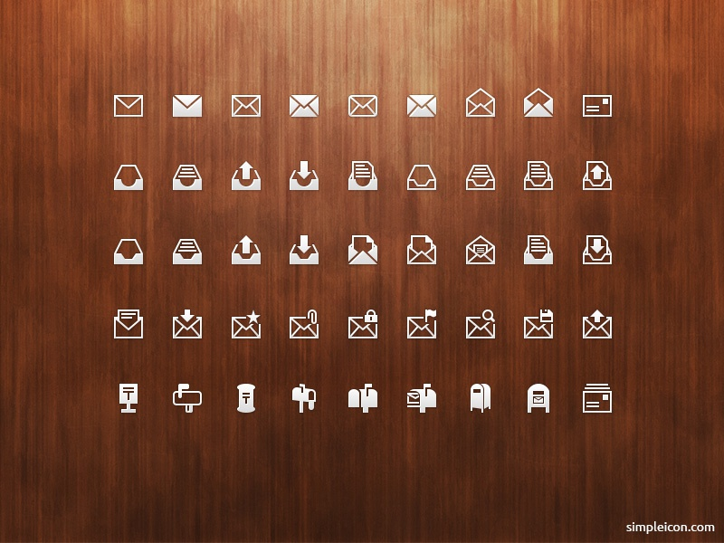 Mail PSD Icon Set flat icon flat icons flat psd icon icons icon set freebie design vector illustrator