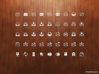 Mail PSD Icon Set flat icon flat icons flat psd icon icons icon set freebie design vector illustrator