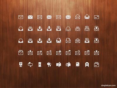 Mail PSD Icon Set