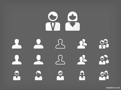 User Icon Set PSD