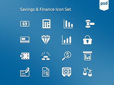 Saving And Finance Icon Set icons icon free freebie freebies psd vector photoshop icon set