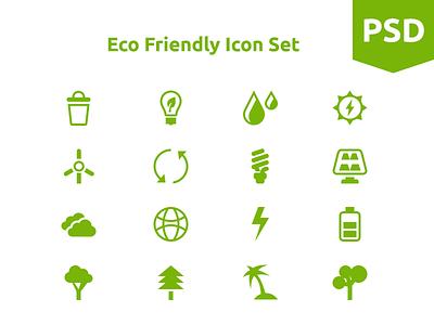 Eco Friendly Icons eco green icon icons flat free freebies psd