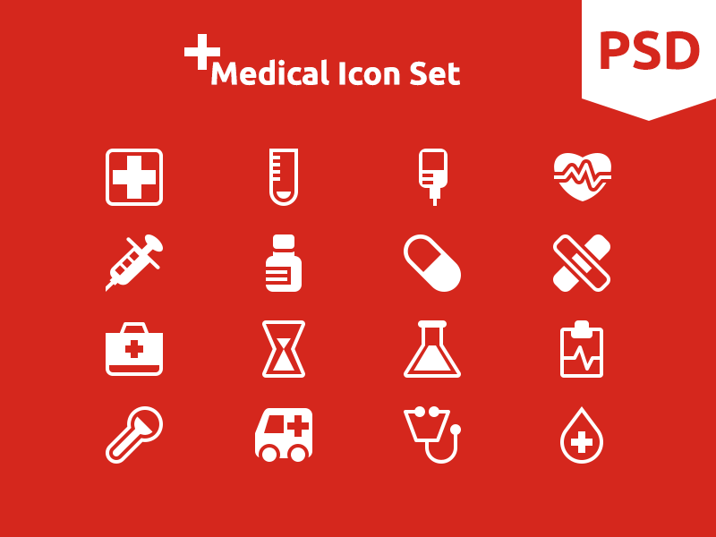 Medical Icon Set medical icon icons free. flat. freebies psd vector