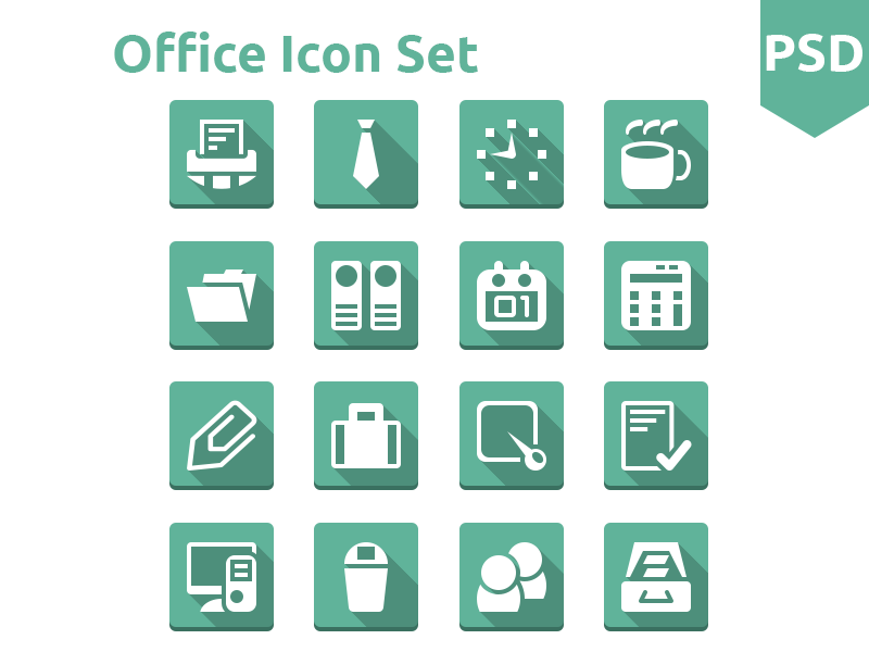 Office icon Set free icon icons freebies psd flat ui