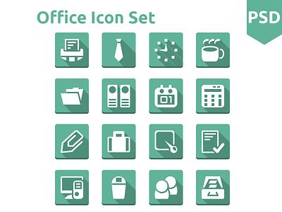 Office icon Set free icon icons freebies psd flat ui