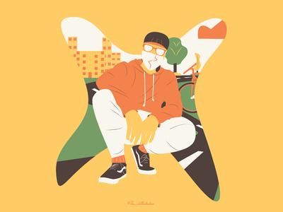 A Gully Boy Illustration