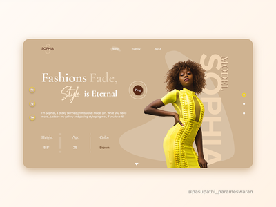 UI design for a model portfolio! portfolio ui model portfolio styleui fashionui photoui modelui websiteui uiux uidesign ui