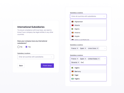 Select Input Component b2b list form picker selector saas minimal flat clean ux ui search design system dashboard web app app dropdown component select input