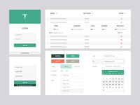 Web App Sketch UI Set