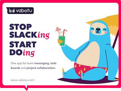Stop Slacking Start Doing concept typography design ui digital ad baner ad