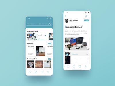 Tutorial app concept design