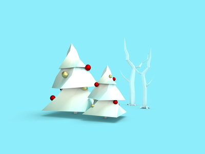 Christmas Trees modeling 3d cfd cinema4d christmas lowpoly tree illustration
