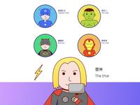 Marvel character avatar-Favorite comics