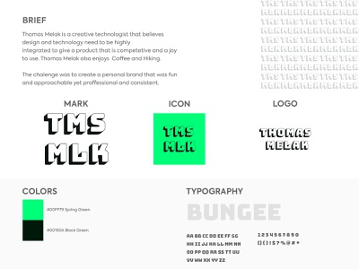 Thomas Melak typography flat pattern icon branding logo design
