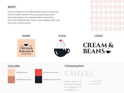 Cream And Beans typography pattern logo design icon design logo branding