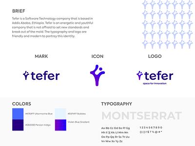 Tefer Dribble Post software development software company gradient debut vector logo design logo typography illustration icon branding