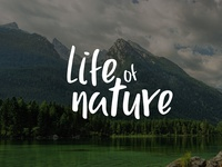 Typography - Life Of Nature