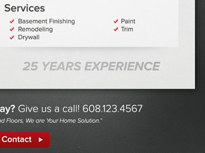 Home Solutions Website proxima nova web design noise