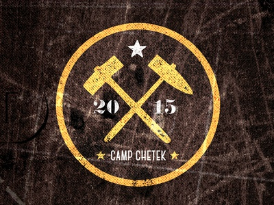 Gold Rush illustration design typography camp chetek vintage