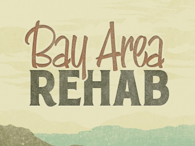 Bay Area Logo vintage textured typography