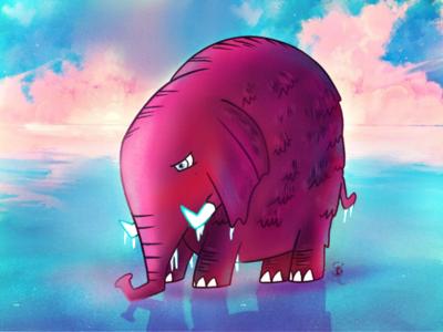Ice Elephant digitalart illustration