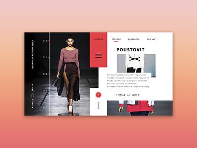 Ukrainian Fashion Week - web page concept first design shot dribbble hello concept we design minimal branding website ui ux web design