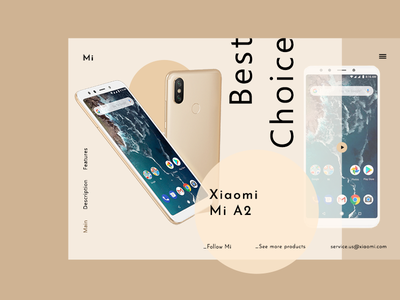 Mi Phone - web page concept typography concept logo website web ux ui shot dribbble design branding