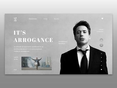 LIE TO ME - emotions web page typography minimal hello website design shot web ux ui dribbble concept