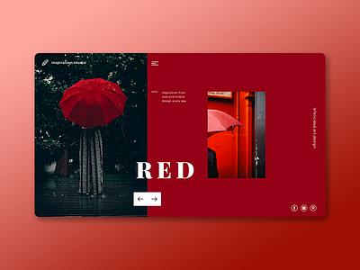 Red Inspiration website web ux ui shot dribbble concept design